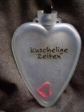 KUSCHELIGE ZEITEN - Wärmflasche / Taschenwärmer in Herzform mit HERZ innen / Neu
