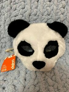 NEW Claire's Kids Panda Plush Face Mask Costume