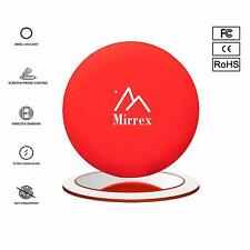 Mirrex QI Wireless Fast Charging Pad with Lighted Makeup Mirror Base for iPhone