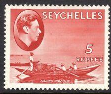 Seychelles1938 red 5r chalk paper multi-script mint SG149