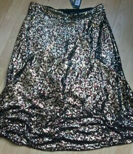 Ladies M&S black/gold  sequin  skirt -  size 16  New ( RRP  £ 39.50 )