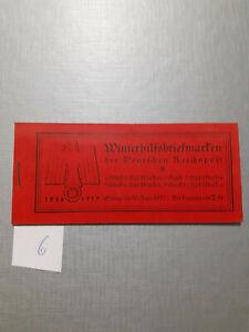D. R. Markenheft Markenheftchen Winterhilfsbriefmarken komplett 1936/37 (6)