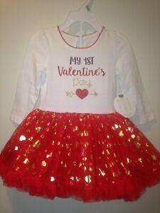 Koala Kids My First Valentine's Day 2 pcs Tutu Dress Outfit 0/3 months