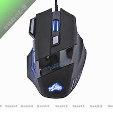 LED Optical 5500 DPI 7 Button USB Wired Gaming Mouse