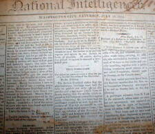 2 1814 War of 1812 headline newspapers BATTLE of CHIPPAWA Ontario CANADA Niagara