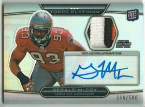 Gerald McCoy Tampa Bay Buccaneers 2010 Topps Platinum Rookie Patch AUTO RC /500