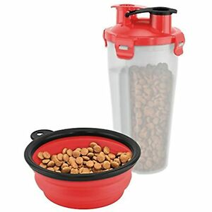 FineLife ON-THE-GO PET WATER AND FOOD BOTTLE