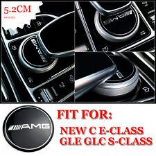 AMG Multimedia Control Badge Emblem Decals For Mercedes New E C Class GLC S218