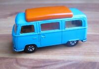 MATCHBOX LESNEY VOLKSWAGEN CAMPER no. 23 TURQUOISE, THIN SUPERFAST WHEELS, VGC