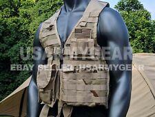 UPGRADED US Army MOLLE II Desert Tan Fighting Load Carrier Survival Vest FLC LBV