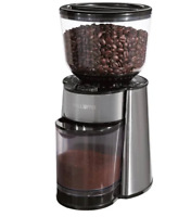 Mr. Coffee Automatic Burr Mill Grinder, Stainless Steel/Black