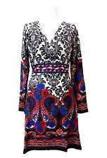Palme Boho Women's Knit Dress Long Sleeved Knit Dress Multi Colour   Size M/L