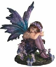 StealStreet SS-G-91587 Young Blue And Purple Fairy Sleeping In Garden Figurine,