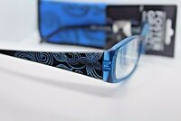 """Foster Grant """"MARY KATE-BLUE"""" Reading Glasses Matching Soft Case +2.00"""
