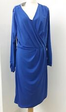 Ladies M&S Royal Blue Wrap Dress. Plus size 20. New with tags. Work office