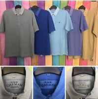 Oakman Short Sleeved Sulphur Dye Polo Shirt, Small, Medium, Large, Cotton, BNWT
