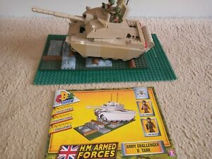 HM Armed Forces Army Challenger II Tank Set Constructable Building, No Box
