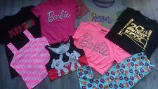 NEW 8x BARBIE Mickey BUNDLE GIRL CLOTHES T-SHIRTS TOPS 12/13 YRS 13 YRS 14 YRS