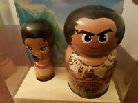 Disney D23 Expo MOANA WOODEN FIGURE SET Collectible Figures Limited Edition 300