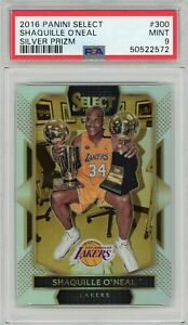 2016 Select Silver Prizm Shaquille O'Neal PSA 9 #300