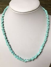 """Santo Domingo Turquoise Nugget Sterling Necklace 19.5"""""""