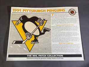 Willabee & Ward NHL Official Patch 1991 Pittsburgh Penguins