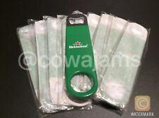 Heineken Lager Beer Bottle Opener x10 Pub Bar Blade Rubber Grip Man Cave New