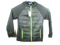 Biz Collection Mens Black Jacket Sz M Stealth Tech Hoodie Quilted Chest- NWT