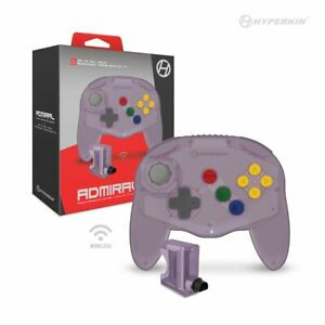 Premium Wireles Controller for Switch,  N64,  PC Via Blutooth (Clear Purple)