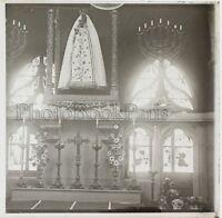 Moulins Cattedrale La Vergine Francia Placca Da Lente Stereo Positivo Vintage