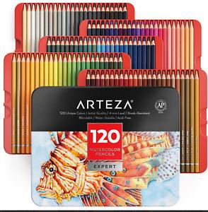 Arteza Professional Watercolor Pencils for Adults & Kids, Set of 120 Colors BNIB