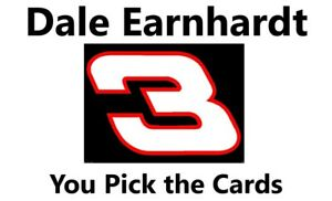 You Pick Your Cards - Dale Earnhardt  #3 NASCAR - Racing Card Selection