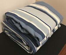 "New MTM Curtains Laura Ashley EATON STRIPE Royal Blue 74"" 188cm W 102.5"" 260cm L"