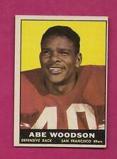 1961 TOPPS # 65 SAN FRANCISCO ABE WOODSON  NRMT CARD (INV# A4120)