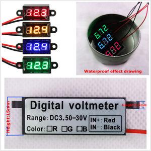 """0.56"""" Vehicles Motor Digital Voltmeter Green LED Waterproof Dustproof Shockproof"""