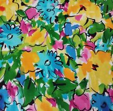 "14"" Xanadu Studio 8 Quilting Treasures Bright Floral Pink Yellow Blue Green"