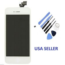 White LCD Touch Screen Display Digitizer Assembly Replacement for iPhone 5 5G 5