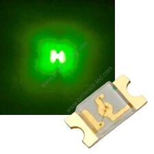 50x Led CMS SMD 1206 Vert à souder PLCC-2 - green 1206 smd haute luminosité