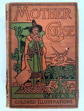 Antiquarian Mother Goose Nursery Rhymes Fairy Tales Book David McKay RARE