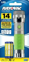 Rayovac Value Bright 18 Lumen 3AAA LED Glow in the Dark Flashlight with Batte...