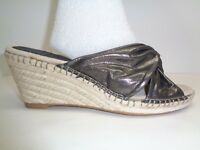 Johnston & Murphy Size 7.5 M AINSLEY Pewter Suede Wedge Sandals New Womens Shoes