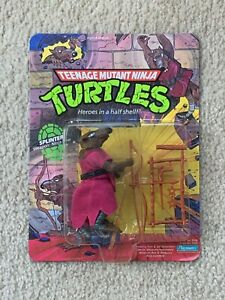 TMNT 1988 Ninja Turtles Splinter Action Figure Toy MOC Sealed UNPUNCHED Nice!