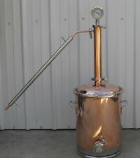 """8 Gallon Copper Moonshine Still with 2"""" Copper & Stainless Whisky Column"""