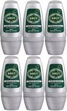 6 x BRUT ORIGINAL Roll on Deodorante Spray Corpo Spray per gli uomini 50ml