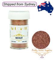 MERLOT Faye Cahill 100% Edible Lustre Dust for Cake Decorating 20ml