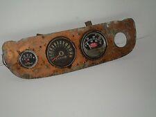 Original Rat Rod Hotrod Dash Speedometer Gauge Panel with Vintage Sun Tachometer