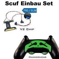 Controladora ps4 remapper soldadura con estaño, v2 chip + martillo verde paddles y tornillos