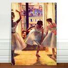 """Edgar Degas Three Ballet Dancers ~ FINE ART CANVAS PRINT 18x12"""""""