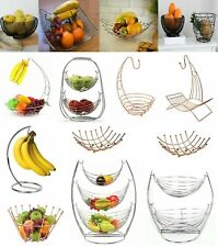 New 2 in 1 Banana Hook Tree Fruit Bowl Basket Hanger Stand Dinning Table Storage