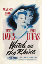 Watch on the Rhine Bette Davis movie poster print #21